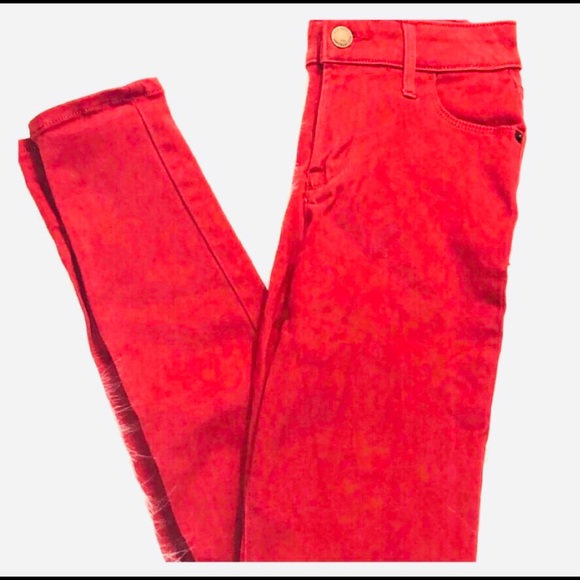 Old Navy Denim - Woman's Old Navy Red Mid- rise Skinny Jeans Size 0